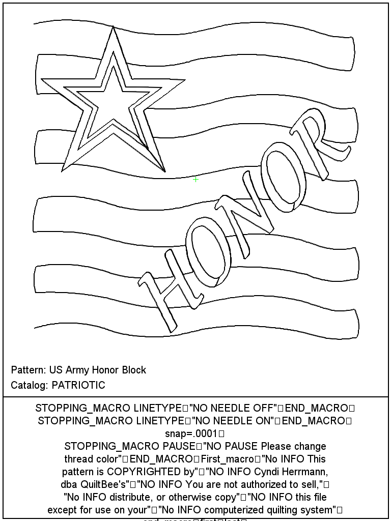 US Army Honor Block