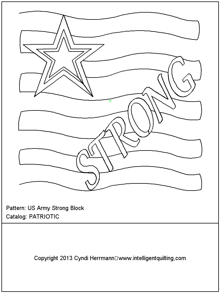 US Army Strong Block
