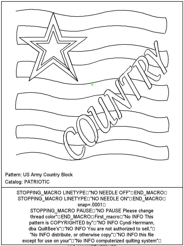 US Army Country Block